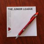 Junior League Volunteer notepad (photo credit Junior League of San Diego)